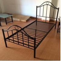 Black Iron Home Full Size Metal Beds Bedroom Furniture with White , Black or Custom Color