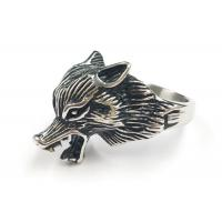 Latest Design Custom 316L Stainless Steel Punk Fox Animal Shape Ring