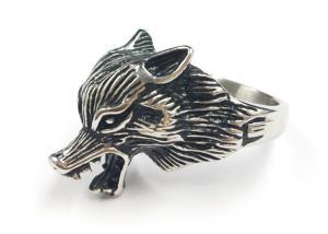 China Latest Design Custom 316L Stainless Steel Punk Fox Animal Shape Ring on sale