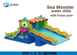 China Pvc Tarpaulin Commercial Inflatable Water Slides Cute Little Monster Shape on sale