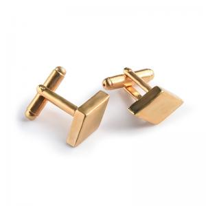 China Custom Made Wedding Party Cufflinks , Square Gold Plated Cufflinks For Men supplier