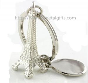 China Wholesale cheap Tour Eiffel key ring souvenirs, Silver plated metal Eiffel Tower keyrings, on sale