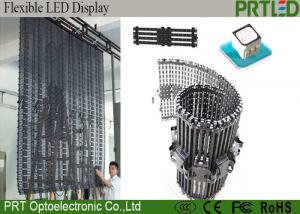 China Slim Advertising P12.5 Flexible LED Display Mesh Curtain Light Weight on sale
