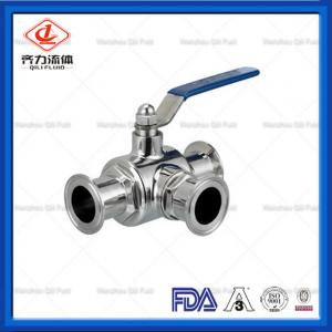 China Flow Control Sanitary Ball Valve Full Port Ball Valve Heat Resistant on sale