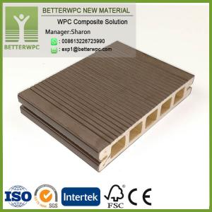 China Durable Exterior Patio Garden Composite Deck Cladding 3D Embossed Waterproof Wood Plastic WPC Flooring on sale