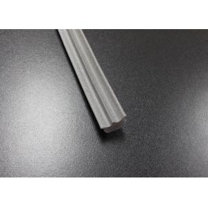 China Gray Long Side EPDM Rubber Extrusion Embedded , Window Weather Stripping on sale