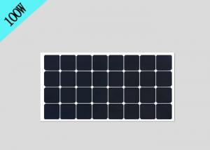 China 100W 18V Sunpower Semi Flexible Solar Panels , Bendable Solar Panels EL Test Approval on sale