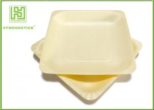 China Ecochoice Biodegradable Disposable Cocktail Plates , Restaurant Wooden Dinner Plates on sale
