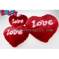 China Plush Stuffed Red Heart Shape Cushion Soft Pillow Toy as Valentine's Day Gift on sale