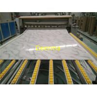 Plastic PVC Marble Panel Machinery With SIEMENS PLC Control / Artificial Marble  Machine