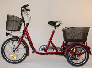 China Front Basket Adult Electric Tricycles Rear Cargo , 3 Wheel Electric Bicycle on sale