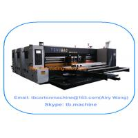 2016 new design modern hotselling 2400*3800mm big size 2 color flexo printing slotting carton machine