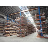 China Vertical double side cantilever racking system for long tubes and pipes stock on sale