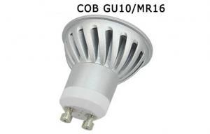 China ROHS / CE 3 W COB LED Spotlight Gu10 3000K Aluminum Shell For Home on sale