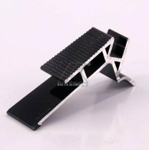 China Anodized Furniture Aluminium Profiles Recyclable For Ladder Black Plus LED on sale