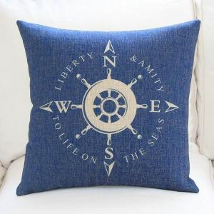 China Oceanic shipbuilder sailor sailing seafarer voyager land and sea compass print cushion on sale