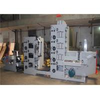 Eco Friendly Flexo Label Printing Machine , CI Flexographic Printing Press UV Die Cutting