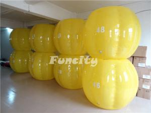 Quality Les sports jaunes durables de boule de sumo du bleu TPU dactylographient pour for sale