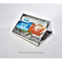 thermal bag isothermal shopping tote bag with plastic handle