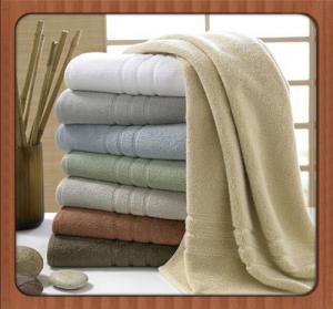 China Wholesale custom beach towel 70% bamboo fiber 30% cotton hotel bath towel fabric on sale