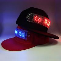 Flashing scrolling message LED cap which canbe changed the message by client