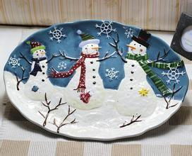 China ceramic plate for christmas with favourable price  made in china  with high quality  on buck sale for export on sale