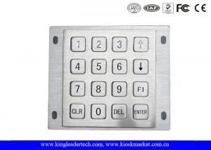 China Rugged Panel Mount Kiosk 4 4 Metal Keypad 16 Flat Keys With Pin Connector on sale