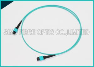 China 12 Chnnels MPO Fiber Optic Cable OM3 Plenum Jacket QSFP 40G SR4 Optical Cabling on sale