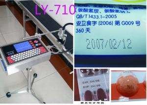 China Serial Number Stamping Machine Inject Printer/LY-710/bottle date printing machine on sale