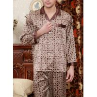 China Men's pajamas silk men long sleeve casual leisurewear silk on sale