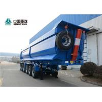 High Strength Steel CIMC Semi Truck And Trailer 6 Axles 120 Tons In Blue