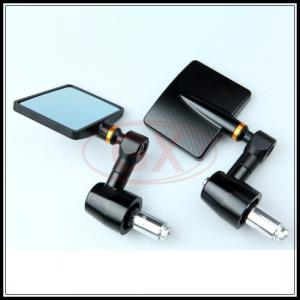 China motorcycle mirrors cnc billet black-gold sliver-black aftermarket mirror square mirror on sale