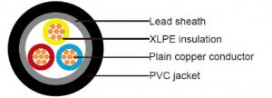 China 600/1000V XLPE Insulated and Lead Sheathed Cables according to IEC 60502-1 on sale