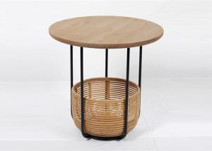 China Painting Bamboo Basket Metal And Wood Display Shelves on sale