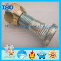 High Strength Hub Bolt With Nut,Zinc plated knurled bolt with nut,High tensile bolt with nut,Grade 10.9 bolt and nut set
