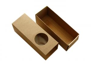 China Hot Stamping Printed Small Kraft Boxes , E Flute Kraft Cardboard Gift Boxes on sale