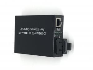 Quality One Rj45 Port 10 / 100M Fiber Ethernet Media Converter , Multimode Media Converter Dual Fiber for sale