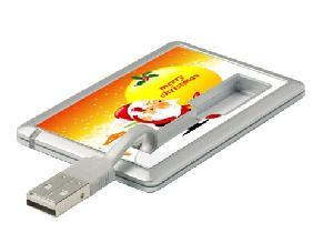 China promtion gift slim credit card usb key drive on sale