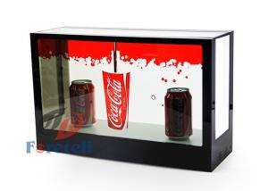 China FHD Exhibition Transparent Touch Screen Display , Desktop 3d See Through Lcd Display on sale