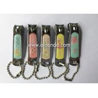 China Souvenir Customized Engraved Nail Clipper Keychain Metal Souvenir Nail Clippers on sale
