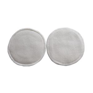 China Heart Felt Bamboo Reusable Makeup Remover Pads With Absorb 2 Layer Microfiber on sale