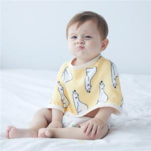 China Plant Printing Baby Feeding Cloth , Infant Baby Premium Cotton Burp Cloths on sale