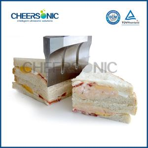 China Sandwiches Bakery Bread Slicer Machine 500W With Ultrasonic Cutting Technology on sale