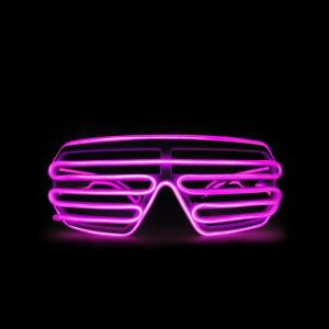 China Multi-Color EL Wire Shutter Glasses Light Up Glow Sunglasses For Concerts, Party, Night Clubs on sale