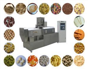China SS Slanty Snack Bar Dual Screw Extruder Puffed Corn Snack Making Machine on sale