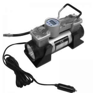 China DC 12v Double Cylinder 150 Psi Tire Inflator digital gauge car air compressor on sale
