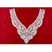 Vintage Polyester V Neck Lace Collar Applique For Women Blouse Azo Free DTM Dyed