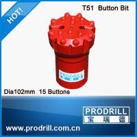Dia 102mm T51 botton bit for mining & construct