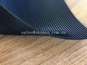 China Durable Black Dairy Rubber Cow Mat Fine Ribbed Quine Shockproof Mat For Industrial on sale
