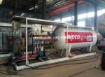 5 cbm 2.5 Ton LPG Storage and Cooking Cylinder Refilling Tanker Plant 5,000 Liter LPG Skid Station